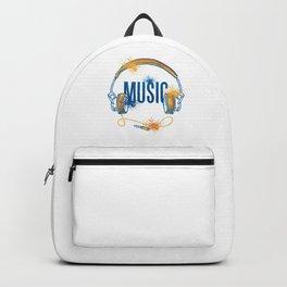 Music Lovers Songs Singer Guitarist Bands Geeks Drums Gift Backpack