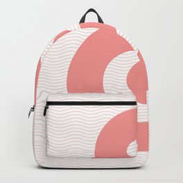Ampersand in soft pink bubble typography wall art home decor Backpack