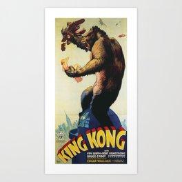 King Kong 1933 Art Print