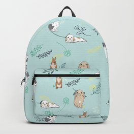 Rabbits / Bunnies Floral pattern Backpack