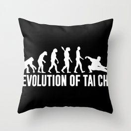 Tai Chi Evolution Judo Taijiquan Martial Arts Throw Pillow