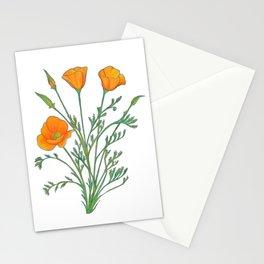 California Poppy Stationery Cards