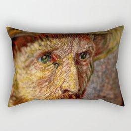 Vincent van Gogh's Eyes portrait painting Rectangular Pillow