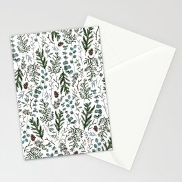 Pine and Eucalyptus Greenery Stationery Cards
