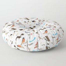 Various Birds Floor Pillow