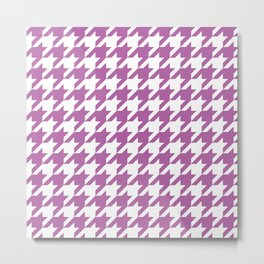 Radiant Orchid Houndstooth - Baby Stimulation Pattern Metal Print