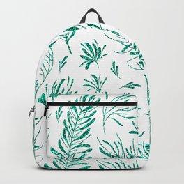 Elegant emerald green glitter foliage Backpack