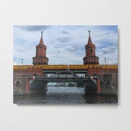 The Oberbaum Bridge, BERLIN Metal Print