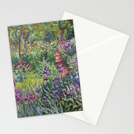 The Artist's Garden at Giverny by Claude Monet (1900) Stationery Cards