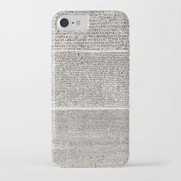 The Rosetta Stone // Antique White iPhone Case