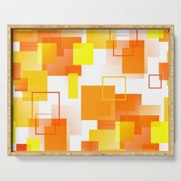 Midcentury Modern Orange - Abstract - Orange, Yellow Serving Tray
