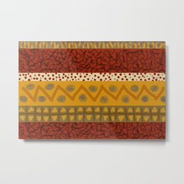 Africa Stripes pattern Metal Print