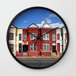 Row houses Florida Ave and Porter St NE Washington DC Wall Clock