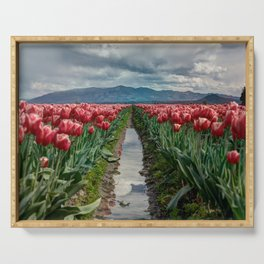 Field of Tulips Serving Tray