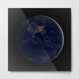 Earth At Night Metal Print