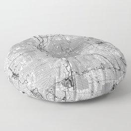 Denver White Map Floor Pillow