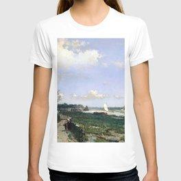 Canal At Rijswijk By Johan Hendrik Weissenbruch | Reproduction T-shirt