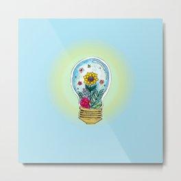 Watercolor Magic Plant Bulb Metal Print