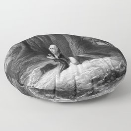 General Washington Praying At Valley Forge Floor Pillow