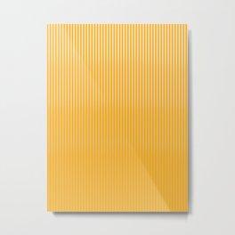 Copper Caramel Stripes Gradient Metal Print