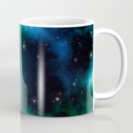 Beautiful Green Nebula filled with Stars Coffee Mug
