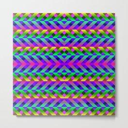 Rainbow Scaffolding Metal Print