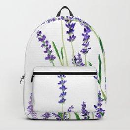 lavender watercolor horizontal Backpack