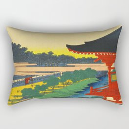 Zojoji Pagoda and Akabane Japan Rectangular Pillow