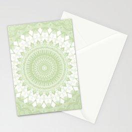 Boho Pastel Green Mandala Stationery Cards