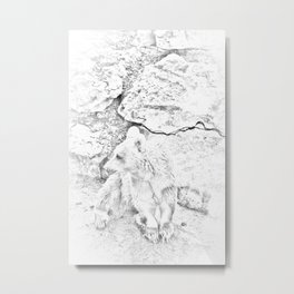 Bear sketch sty Metal Print
