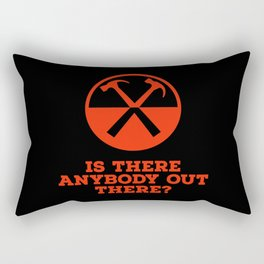 Is there any body out there? (designer) Rectangular Pillow