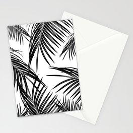 Black Palm Leaves Dream #1 #tropical #decor #art #society6 Stationery Cards