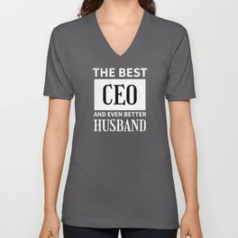 Best CEO Funny Gift for Husband Unisex V-Neck