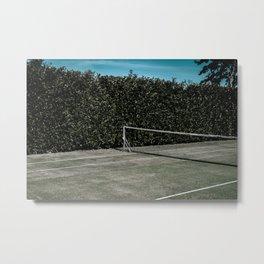 Empty tennis court dark moody photo print | Tavel photography| Netherlands | Fine Art photo print Metal Print