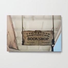 Librairie Bookshop Metal Print