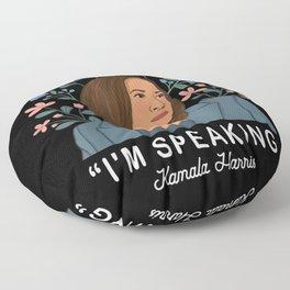 im speaking kamala harris Floor Pillow
