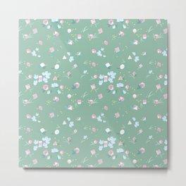 Polyhedral Dice- Mossy Spring Metal Print