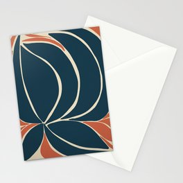 Night Hibiscus - Abstract Art Print Stationery Cards