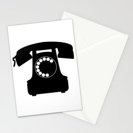 Traditional Telephone Icon Stationery Cards