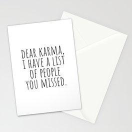 Dear Karma Stationery Cards