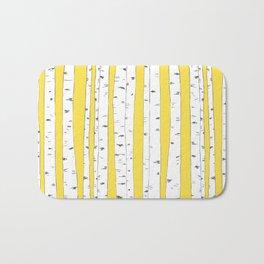 Aspen Forest - Yellow Bath Mat