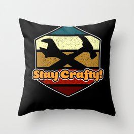 Craftsmanship Highest Quality Do it Yourself Tools Throw Pillow