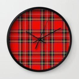 Royal Stewart Tartan Print Wall Clock