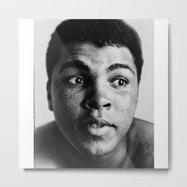 Boxing Legend - Cassius Marcellus Clay Jr - BLM - Black - Power - Muhammad - The Greatest - Ali 556 Metal Print
