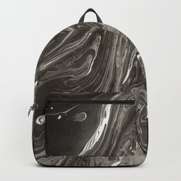 Marbled Black & White I Backpack