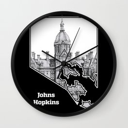 Johns Hopkins Hospital Etching Wall Clock