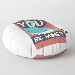 Valetines Day - Whale You Be Mine Floor Pillow