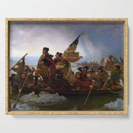 Emanuel Leutze - Washington Crossing the Delaware Serving Tray