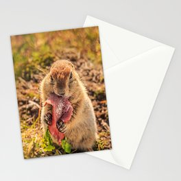 Good food makes good mood Stationery Cards
