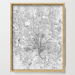 Columbus White Map Serving Tray